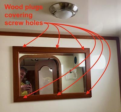 Wood plugs in mirror frame IMG_7234.jpeg