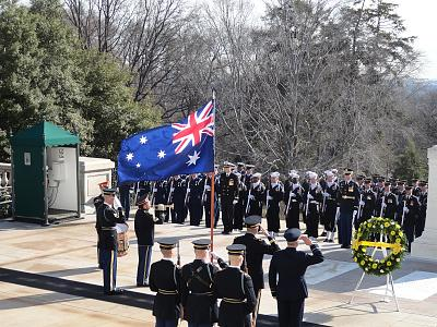 Click image for larger version  Name:12 MG Linnington and Australian guy rendering honors as Taps is played.jpg Views:72 Size:198.4 KB ID:24594