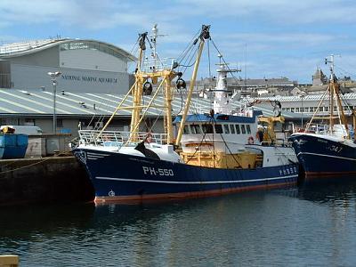 Fishing_trawlers_and_National_Marine_Aquarium,_Plymouth.jpg