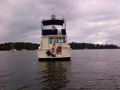 Outboard secured on the swim platform.jpg
