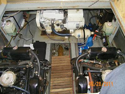 Click image for larger version  Name:TO - Both Engines and Genset - Looking Forward 100_0615.jpg Views:68 Size:177.5 KB ID:70495