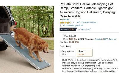 Click image for larger version  Name:Petsafe solvit pet ramp amazon.jpg Views:41 Size:79.5 KB ID:91003