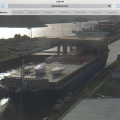 Through Panama Canal on Freighter